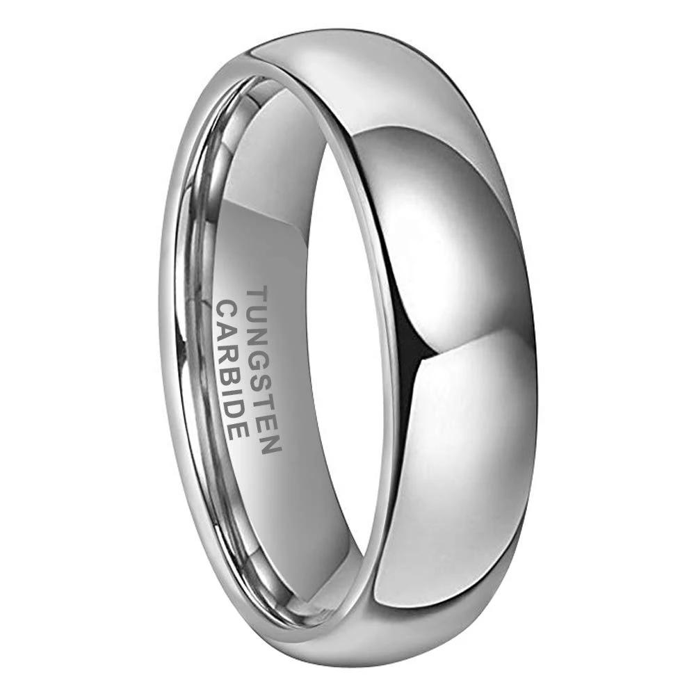 5mm Classic Tungsten Rings for Men Women Wedding Bands Classic Domed Polished Shiny Comfort Fit Size 4-15 - New Wedding Rings