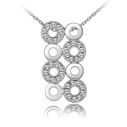 Sparkling Clear Circles Charm Necklace 180 - New Wedding Rings