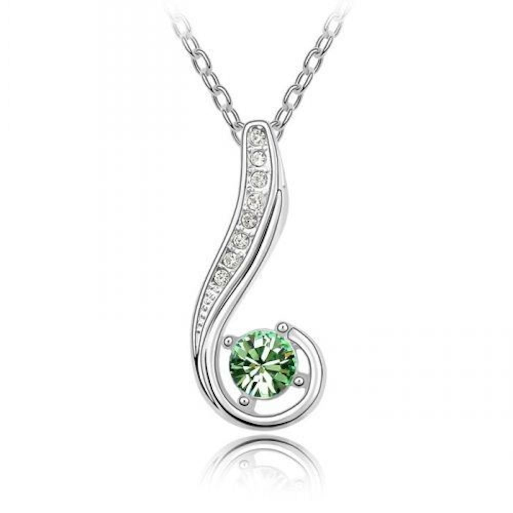 Blue Chip Unlimited Sparkling Green Colored and Clear Journey Charm Necklace 176 - New Wedding Rings