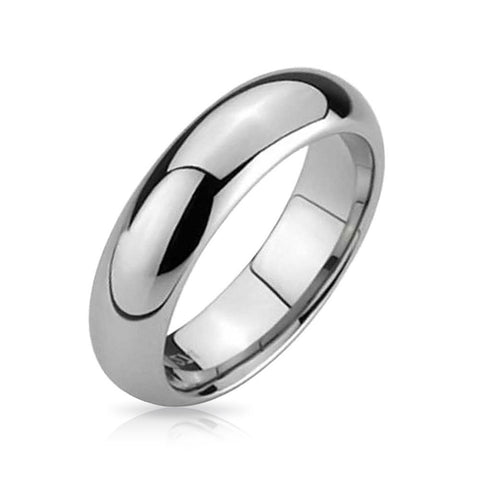 5.5mm Titanium Jewelry Plain Simple Dome Couples Titanium Wedding Band Polished Ring for Men for Women Comfort Fit Silver Tone Size 4-15 - New Wedding Rings