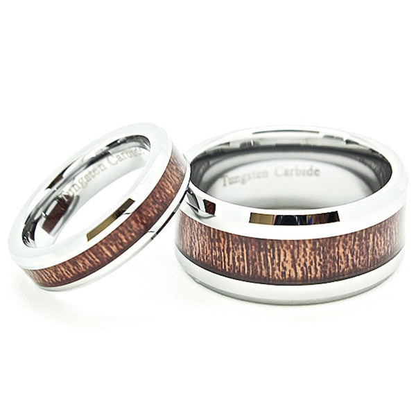 Blue Chip Unlimited Unisex 5mm Tungsten Carbide Ring with Black Carbon Fiber Inlay Wedding Band Size 14.5 14 1//2