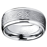 NEW WEDDING RING 8MM Men's Tungsten Carbide Ring with Celtic Design - New Wedding Rings
