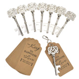 Wedding Favor 60 PCS Key Bottle Openers, Vintage Skeleton Key Bottle Openers Wedding Favors Antique Rustic Decoration with Heart Shaped Kraft Paper Label Card (Silver) - New Wedding Rings