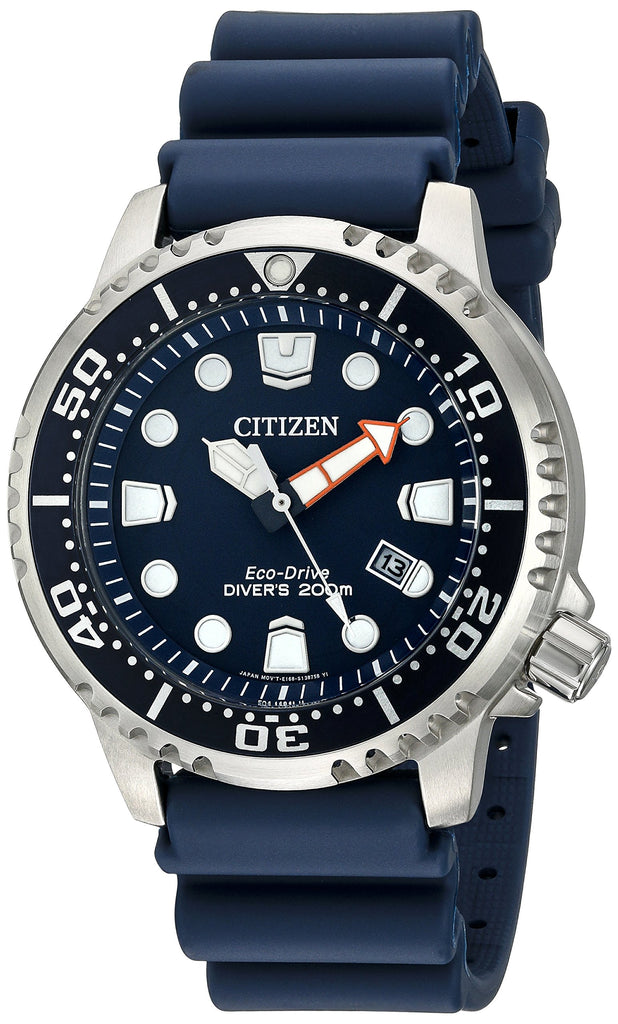 Birthday Anniversary Gift Mens Watch Citizen Men's Eco-Drive Promaster Diver Watch With Date, BN0151-09L - New Wedding Rings