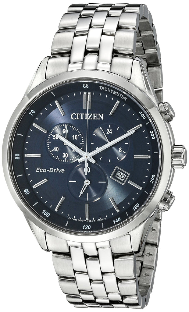 Modern Citizen Men's Eco-Drive Chronograph  Watch Stainless Steel Watch with Date, AT2141-52L - New Wedding Rings