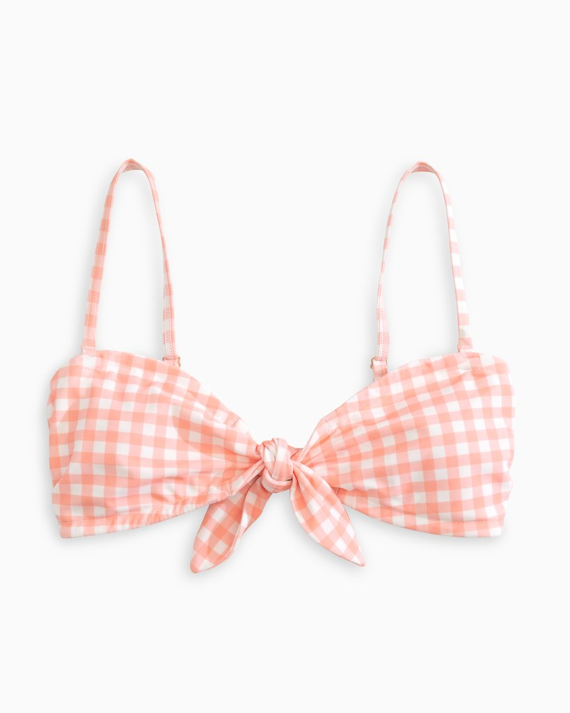 Southern Tide Gingham Bandeau Top