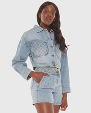 Load image into Gallery viewer, Lola Cropped Denim Jacket