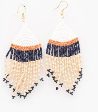 Ink+Alloy Navy and Coral Earrings