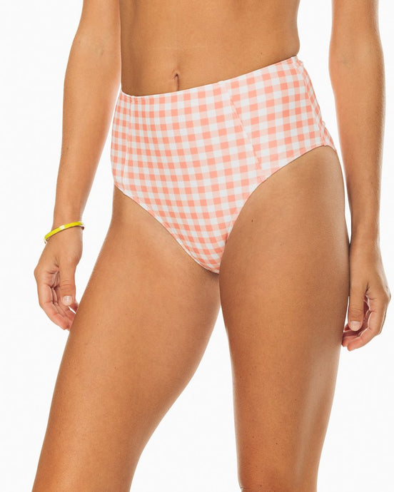 Southern Tide High Rise Gingham Bikini Bottoms