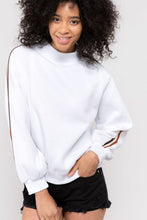 Load image into Gallery viewer, Turtleneck Pullover with Athletic Stripe