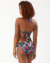 Load image into Gallery viewer, Tommy Bahama Midnight Orchid Reversible Halter Bikini Top