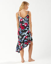 Load image into Gallery viewer, Tommy Bahama Midnight Orchid Asymmetrical Dress
