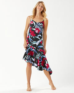 Tommy Bahama Midnight Orchid Asymmetrical Dress