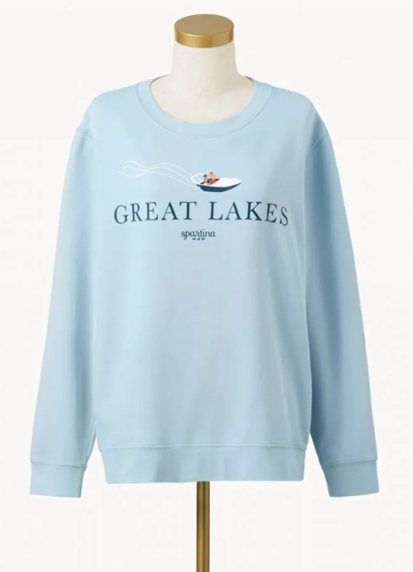 Spartina Great Lakes Pullover - Light Blue