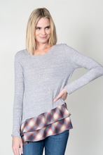 Load image into Gallery viewer, Dylan Vintage Grey Alpine Flannel Long Sleeve