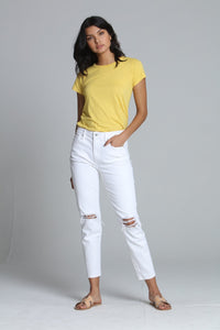 Driftwood White Girlfriend Jeans