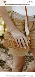 Street Level Clutch W/ Crossbody Tan Strap