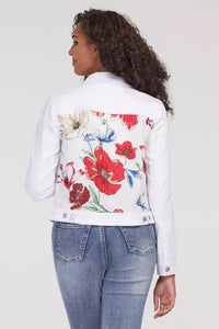 Tribal Soft Touch Jean Jacket With Back Print