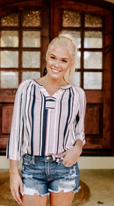 Tribal Stripe Blouse