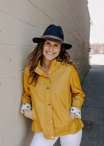REBECCA ELLIOT Textured Raincoat