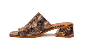 Matisse Goddess Brown Python Sandals