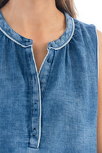 Load image into Gallery viewer, Dylan — Sleeveless Denim Top