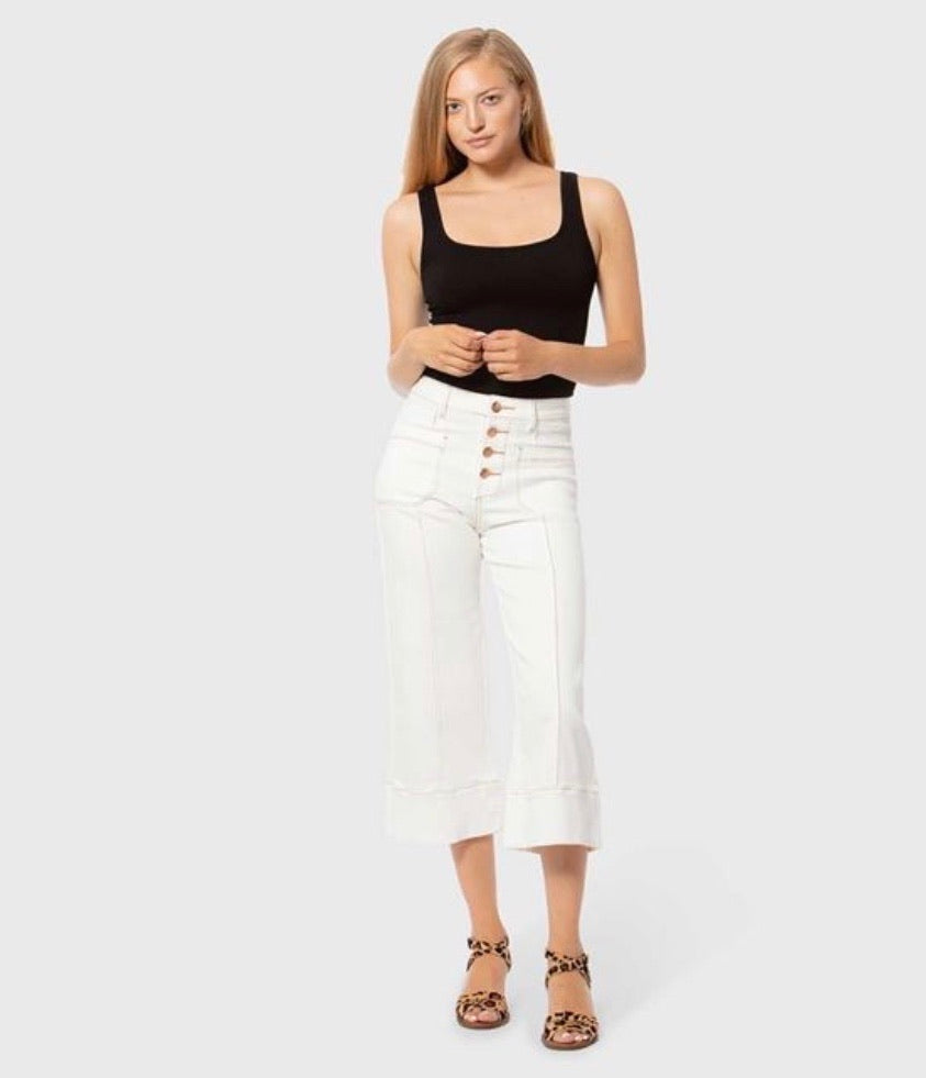 Lola Jeans Crop White Pants