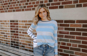 UNWINE Blue Striped Sweater