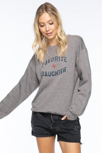 "Sub_Urban Riot ""Favorite Daughter"" Crew neck Sweatshirt"