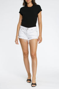 Pistola White Cutoff Shorts