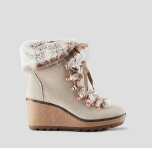 Load image into Gallery viewer, Penelope Suede Wedge Boot - Mushroom