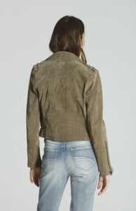 Driftwood Suede Olive Leather Jacket