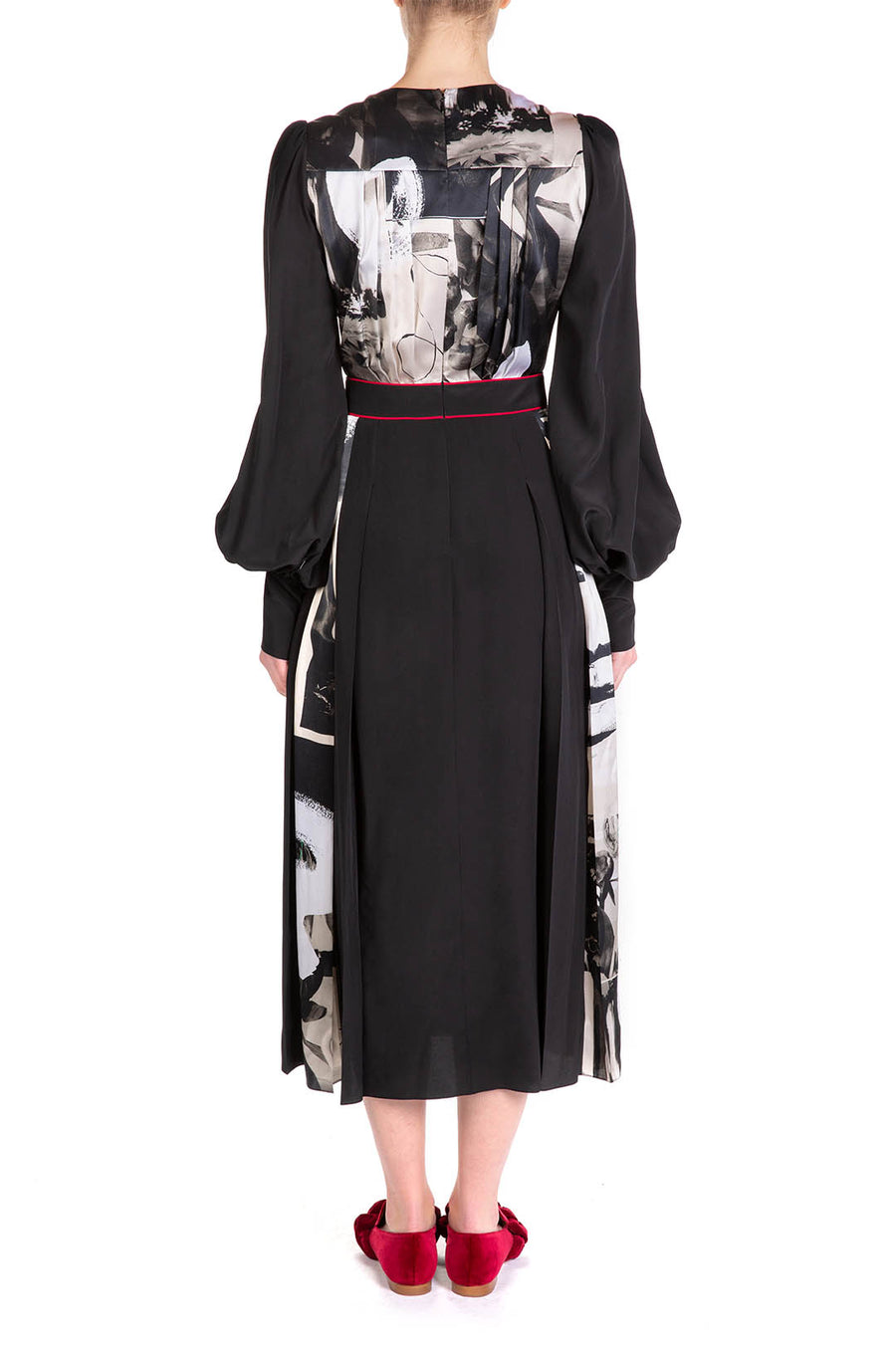 TERUKO DRESS Black & Mono Print