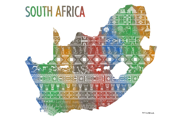 South Africa Pattern (Color) by Micaela Cloete