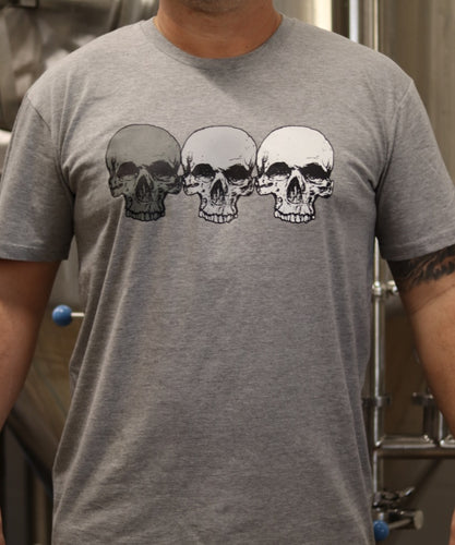 Athletic Grey 3 Skulls T-shirt