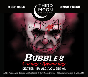 "Hard Seltzer - 4-pk of ""Bubbles - Cherry/Raspberry"" 355mL cans"