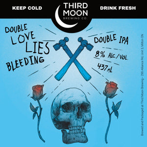 "Double IPA - 4-pk of ""Double Love Lies Bleeding (Blue)"" tall cans"