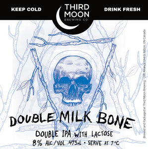 "Double IPA - 4-pk of ""Double Milk Bone"" tall cans"