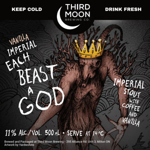 Imperial Coffee Stout - Vanilla Imperial Each Beast A God