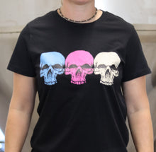 Load image into Gallery viewer, Black 3 Skulls T-shirt