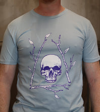 Load image into Gallery viewer, Men's Pale Blue Bone Tree T-shirt