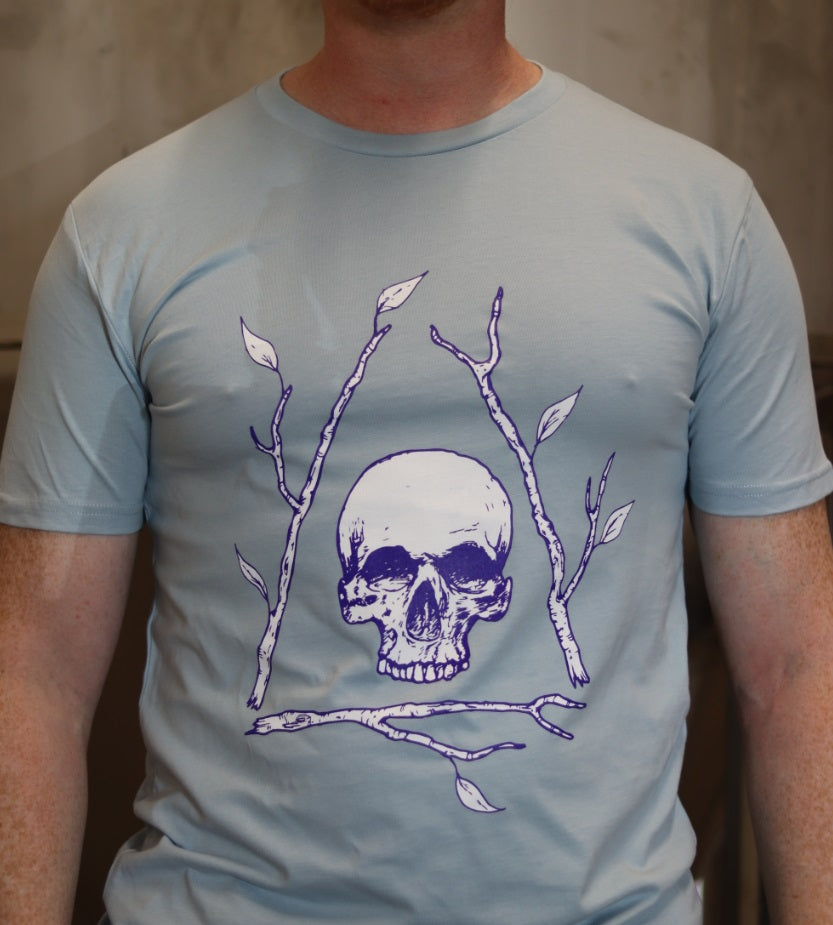 Men's Pale Blue Bone Tree T-shirt