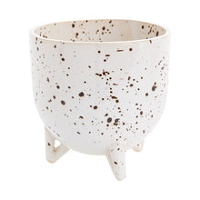 Load image into Gallery viewer, Speckled Ceramic Footed Reid Pot