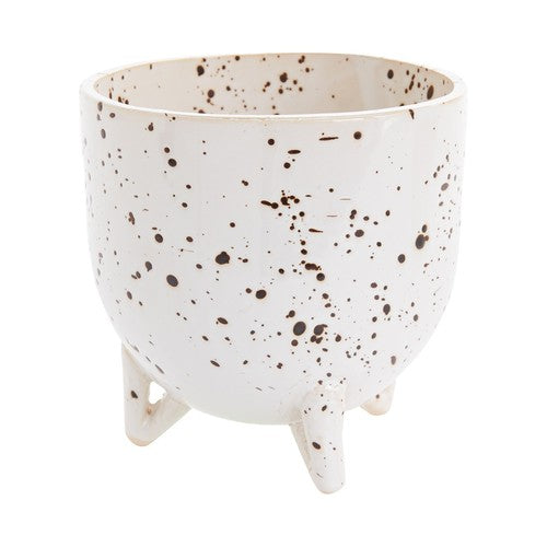 Speckled Ceramic Footed Reid Pot