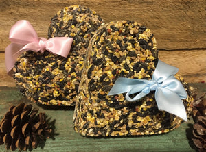 Bird Seed Heart Ornaments