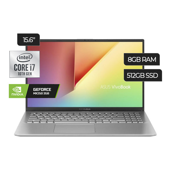 Laptop Asus VivoBook S512FL-NB71 Intel Core i7 512GB 8GB (90NB0M9C-M08200) - PAPAYAPERU.COM