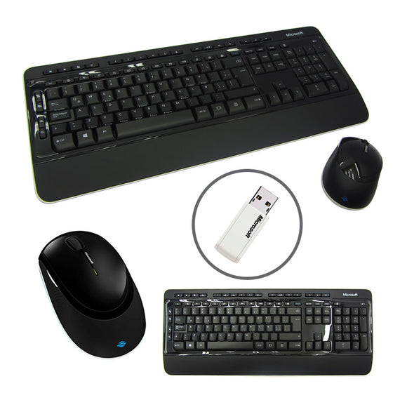 KIT TECLADO Y MOUSE INALÁMBRICO WIRELESS DESKTOP 3050, RECEPTOR USB, NEGRO, 2.4GHZ. - PAPAYAPERU.COM