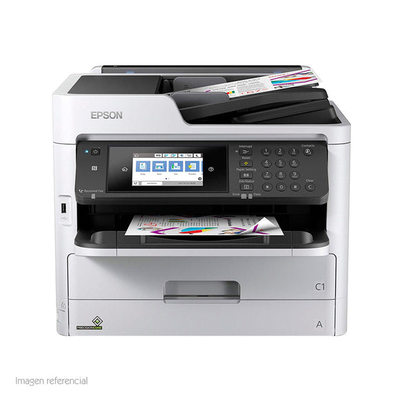 MULTIFUNCIONAL DE TINTA EPSON WORKFORCE PRO WF-C5710, IMPRIME/ESCANEA/COPIA/FAX, WIFI. - PAPAYAPERU.COM