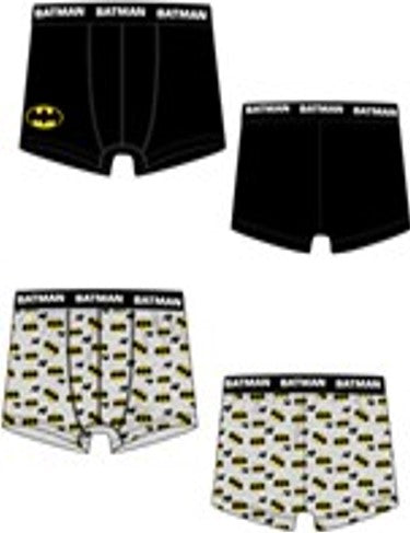 BOXER NIÑOS BATMAN  PACK 2- ORIGINAL BATMAN - PAPAYAPERU.COM