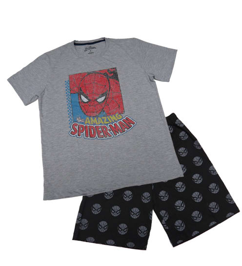 PIJAMA SPIDERMAN CABALLERO POLO + SHORT - SPIDERMAN ORIGINAL